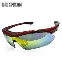 Sport Outdoor Bril voor Riding Oogbescherming Reflecterende Lenzen Met 5 Kleur Lens een Generatie van Vet op