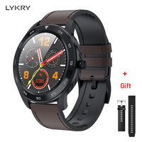 LYKRY DT98 Smart Watch Full Screen Touch Bluetooth 1.3 inch Call Dial EEG Heart Rate Blood Pressure Monitor IP68 Waterproof