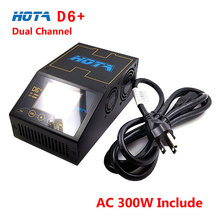 HOTA D6+ Plus AC300W DC650W 15A 2-6S Dual Channel Smart Charger For Lipo Lion Gaoneng Tattu Battery