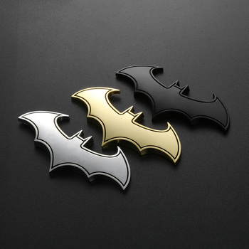 car Logo Sticker Metal Batman Badge Emblem for Toyota 4Runner Sienna Porsche Boxster 919 BMW E38 E91 image