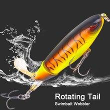 Crankbait de pesca whopper plopper 10cm/14cm topwater isca de pesca artificial swimbait duro popper rotação cauda pesca equipamento