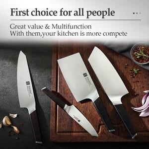 Image 5 - Xinzuo 4 pçs facas de cozinha conjunto aço inoxidável profissional cozinhar chef osso chopper cutelo carne utilitário faca ébano lidar com