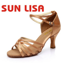 Dance-Shoes Ballroom Latin Tango High-Heels Women's Salsa Girls Ladies for 5/7cm Sun-Lisa