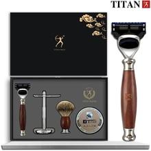 Titan safety razor double edge safety razor set  stainless steel Classic Fashion Men Manual Shaver