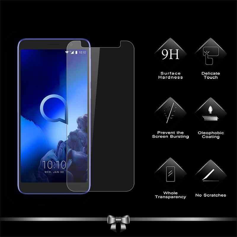 Temperli cam Alcatel için 1S 2019 3 3V 3C 3L 2019 ekran koruyucu için Alcatel 1X U5 5V 3X telefon kapak HD temizle sert cam filmi