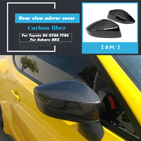 Dry Carbon Fiber Side Mirror Cover Cap Rearview Mirror Frame Cover for Toyota 86 GT86 FT86 For Subaru BRZ 2012 2018 2019
