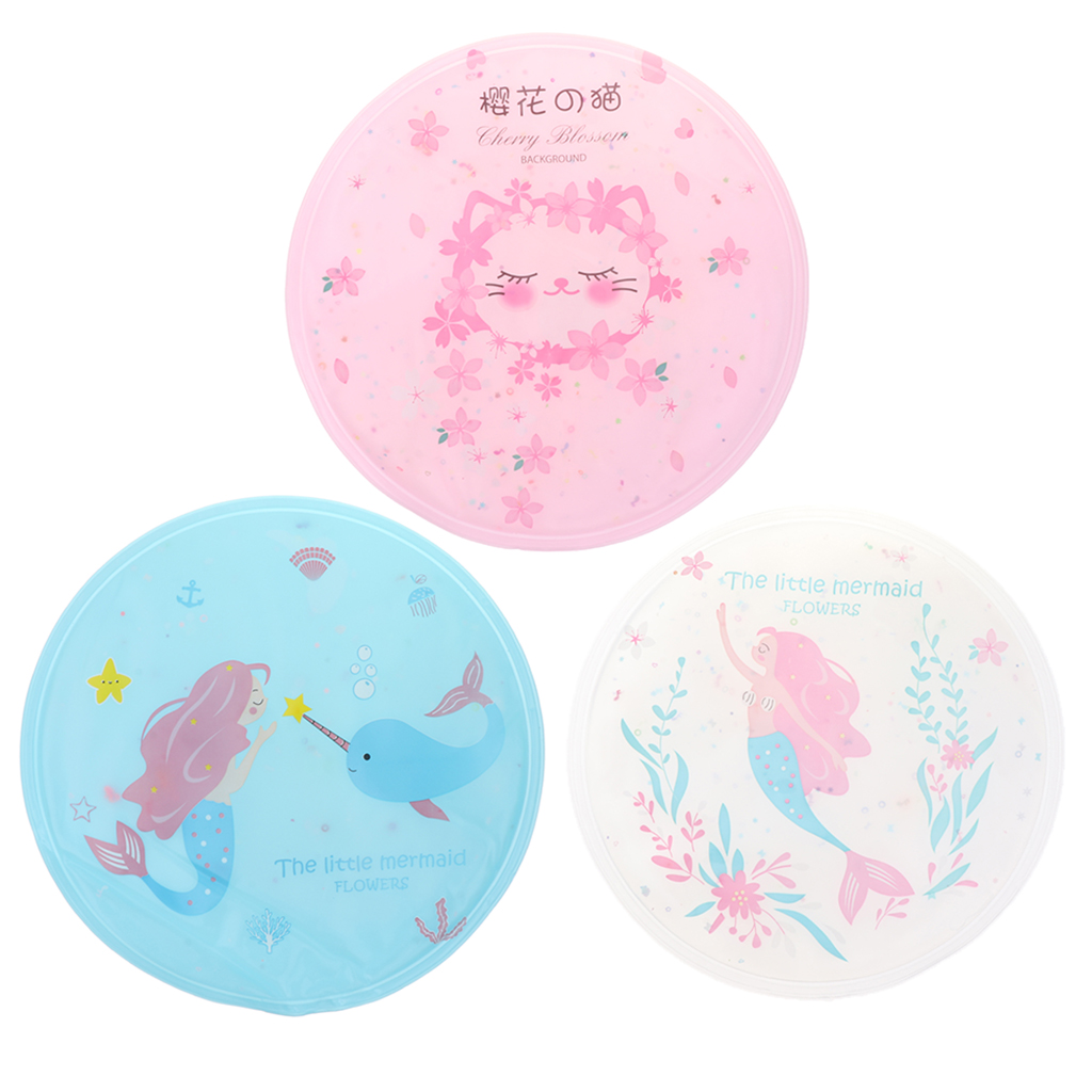 Cute Mermaid Cooling Gel Mat For Summer, Portable Round Cold Pad Cushion For Home, Car, Office, Travel