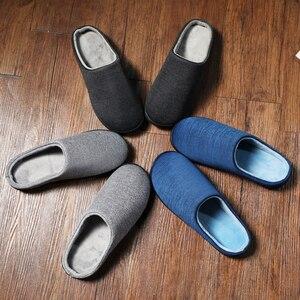 Image 5 - Winter Home Slippers Mens Shoes Short Plush Warm Flip Flop Soft Men Casual Footwear Indoor Slipper Zapatillas De Hombre Big Size