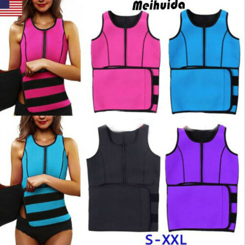 Unisex Men Women Lady Neoprene Corset Tummy Waist Trainer Vest Tank Workout Slimming Shapewear Sweat Belly Belt Body Shaper 4