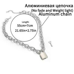 Ожерелье с подвеской в стиле панк, женское/Мужское ожерелье с подвеской в виде висячих замков