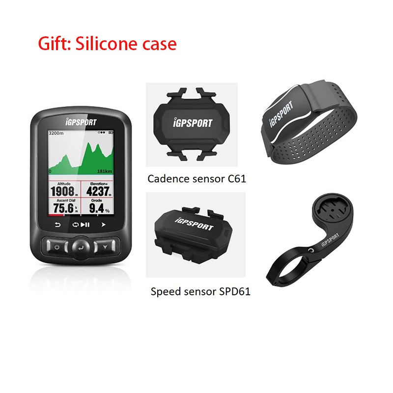 IGPSPORT ANT+GPS Cycle Wireles Computer Cadence//Speed Sensor Heart Rate Monitor