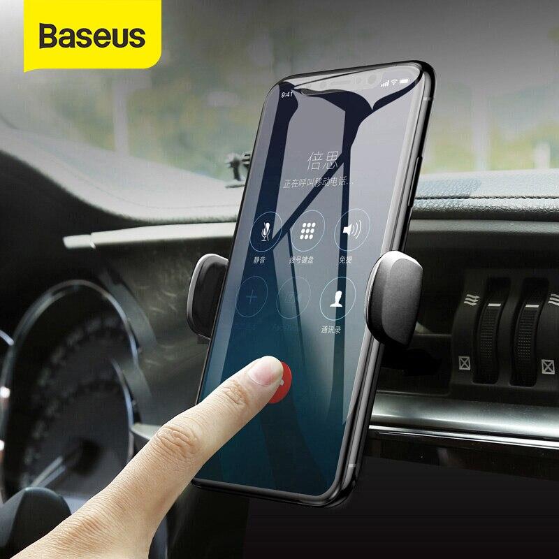Baseus Mini Car Phone Holder For IPhone Samsung Air Vent Mount GPS Car Holder For Cell Mobile Smart Phone Holder Stand Bracket