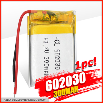 1/2/4x 3 7V Volt Li Po Ion Lipo Rechargeable Batteries 602030 Lithium Polymer Battery For Smart Watch PSP LED Lamp RC Helicopter