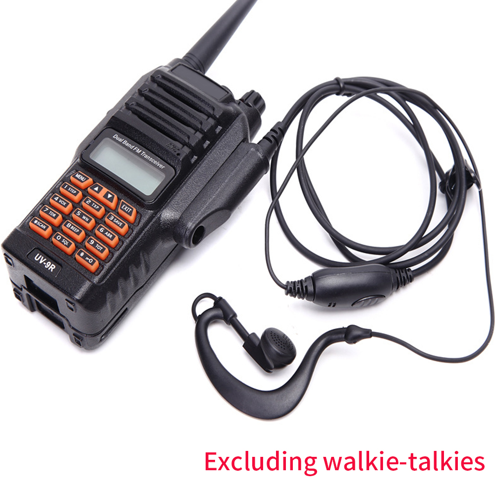 G Shaped Professional Walkie Talkie Waterproof MIC PTT Noise Cancelling Earhook Accessories Durable Earphone For Baofeng UV-9R