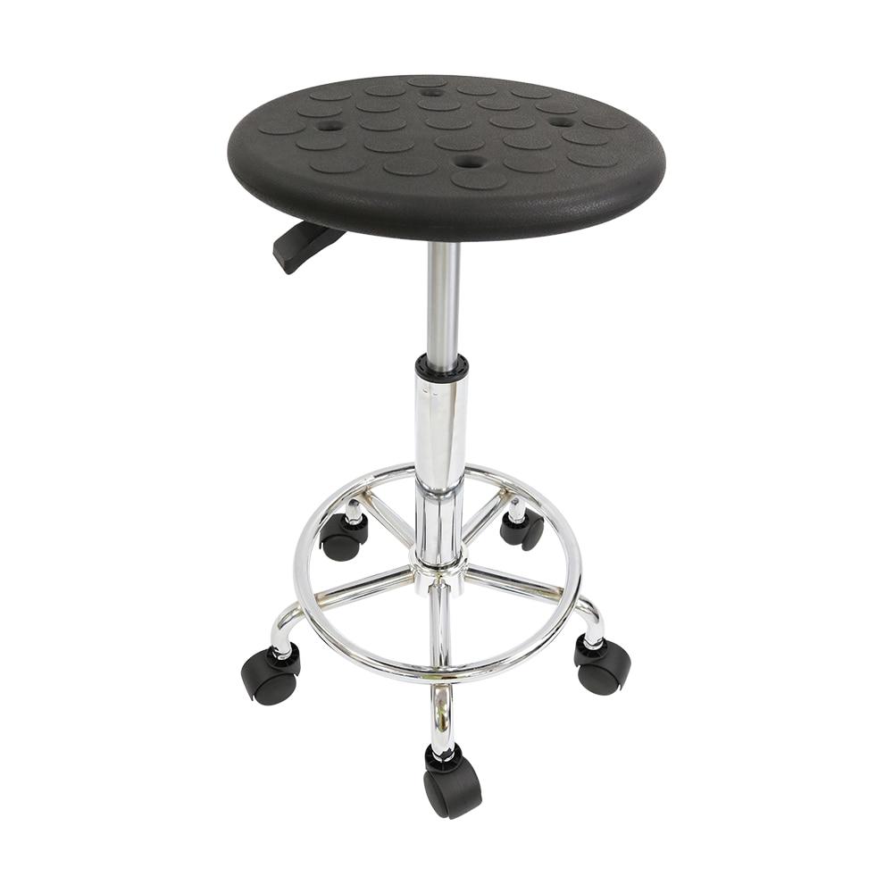 Height 43-56cm PU Seat Black ESD Rotating Stool For Laboratory