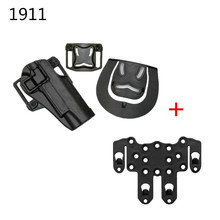 Cqc tático caso de arma de mão direita coldre de pistola com placa molle greve para colt 1911 m1911 cinto saco de arma
