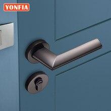 YONFIA Professional Manufacturer Quality Black Door Handle Modern Zinc Alloy