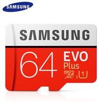 Samsung evo plus 32gb 64gb cartão de memória 100 mb/s alta velocidade 128gb 256gb grau 3 microsdxc UHS-I classe 10 cartão microsd + sd adapte