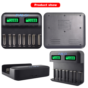 Image 5 - פאלו AA AAA C D סוללה מטען עבור 1.2V AA AAA C D גודל נטענת סוללה מהיר חכם USB LCD מטען מהיר סוללה מטען
