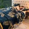 Soft Solid Blanket Fleece Flannel Blanket Adult Sofa Bedding Manta Red Green Blue Flannel Throw MT5