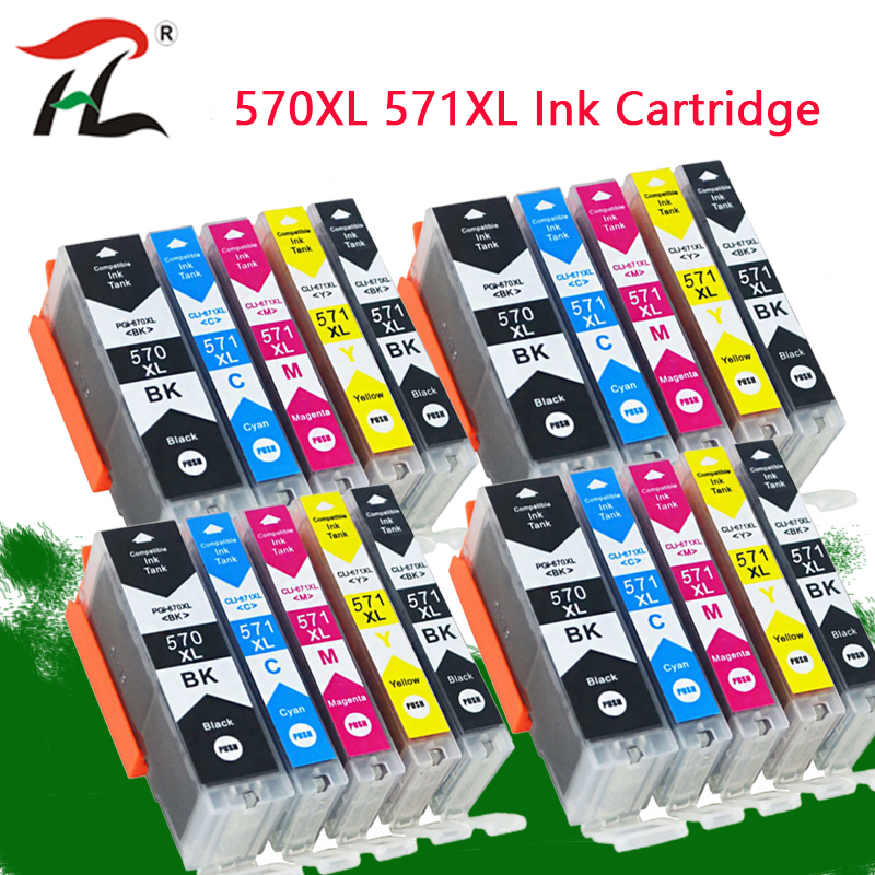 YLC PGI570 PGI-570 CLI-571 Compatible Cartridge For Canon PIXMA MG5750 MG5751 MG5752 MG5753 MG6850 MG6851 MG6852 Printer