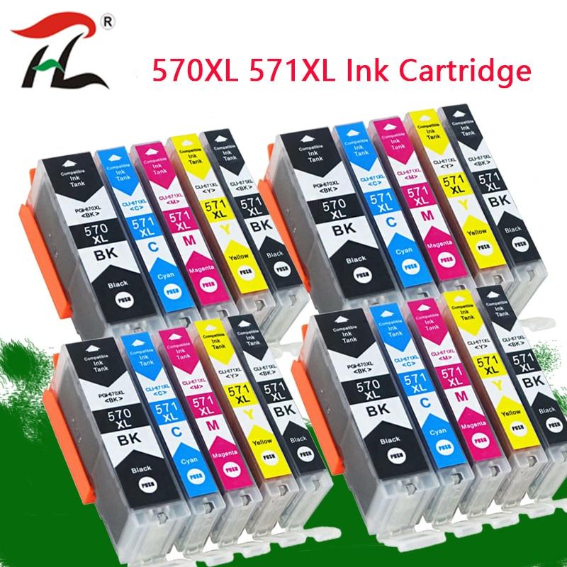 YLC PGI570 PGI-570 CLI-571 Compatible Cartridge For Canon PIXMA MG5750 MG5751 MG5752 MG5753 MG6850 MG6851 MG6852 Printer
