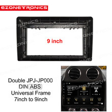 1din universal 2din quadro para carro multimídia player duplo acessórios de automóvel 7 polegada a 9 polegada carro rádio mp5 instalação acessório