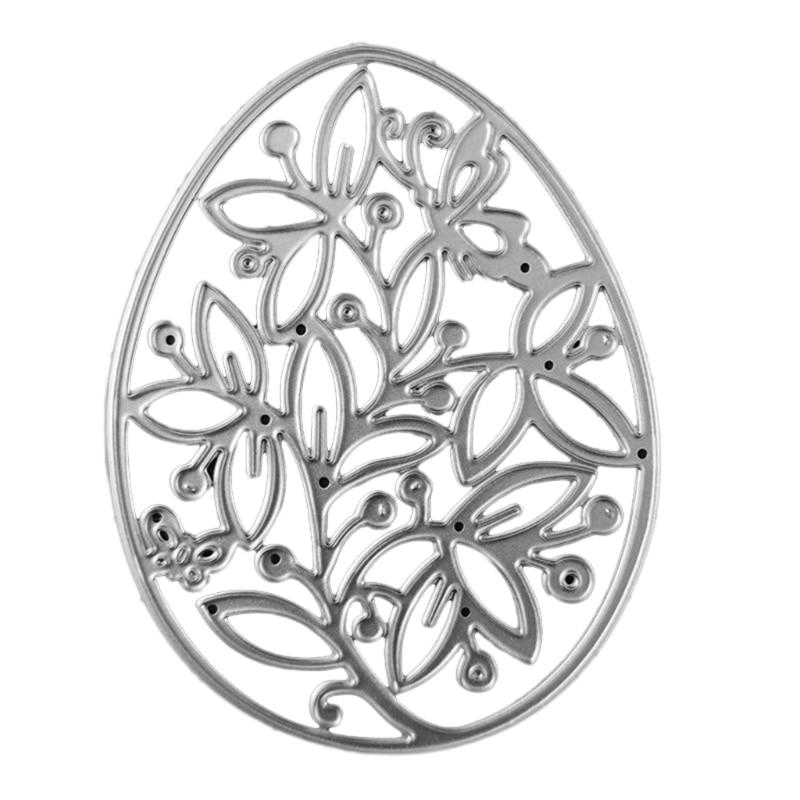Hollow Flower Egg Metal Cutting Dies Stencil Scrapbooking DIY Album Stamp Paper Card Embossing Decoration Craft
