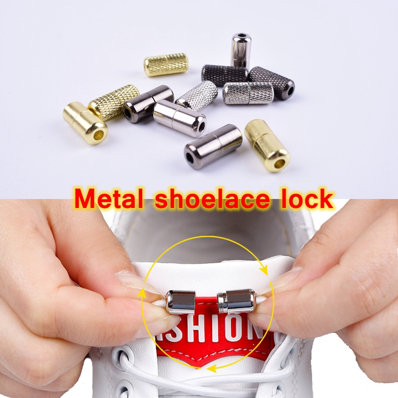 2pcs/pair No Tie Shoelaces Buckle High Quality Metal Lock Convenience Accessories Fit 3.5mm Thick Shoelace Metal Lace Buckle