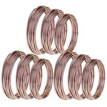 Горячая 9 рулонов бонсай провода анодированный алюминиевый бонсай тренировочный провод с 3 размерами(1,0 мм, 1,5 мм, 2,0 мм), всего 147 футов