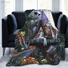 Nightmare Before Christmas Jack Sherpa Blanket Warm Super Soft Flannel Office Nap Bedspread Sofa Bedding Plush Quilt Plaids 107