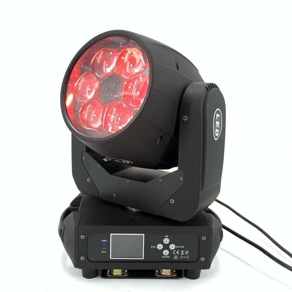 Faisceau de lavage de LED 6x40W RGBW 4in1 Zoom tête mobile ZOOM 4-36 ° ange barre de LED dj lumières effet de scène éclairage dmx contrôleur