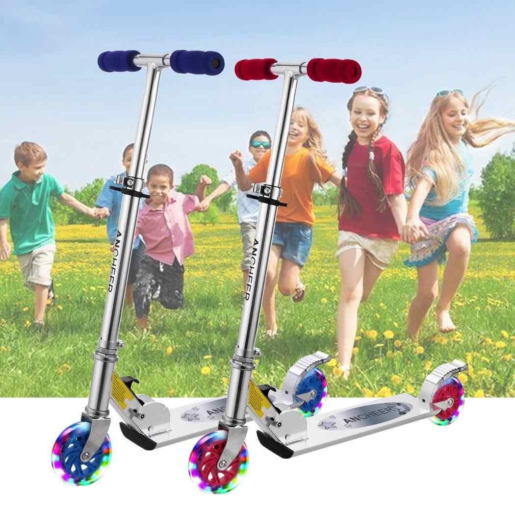 Bambini Prodezza di Scooter Per Bambini Pieghevole Regolabile in Altezza LED 2-Ruote Scooter calcio di Skateboard All'aperto Piede Hoverboard e Skate elettrici Giocattoli Regali