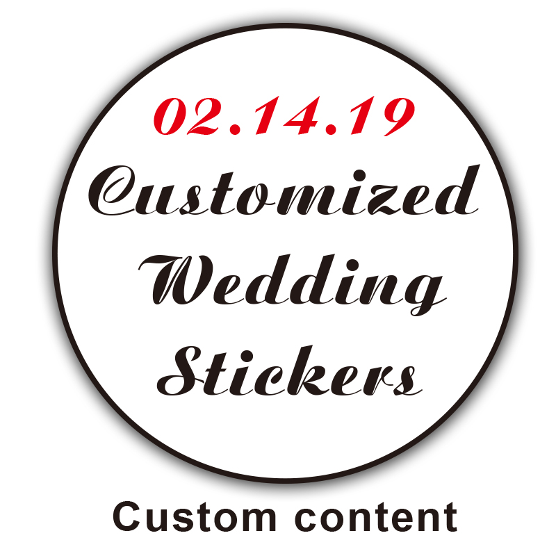 Wedding-Sticker Gift-Box Design-Your-Label Custom-Logo Candy Self-Adhesiv Birthday-Party