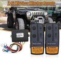 2,4G 12V 24V 50M inalámbrico Digital cabrestantes Kit de Control remoto para Jeep SUV