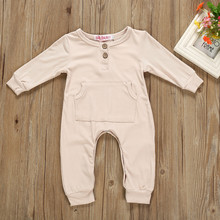 Kids Baby Girl Boy Romper Long Sleeve Clothes
