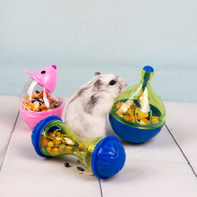 Small Pet Food Box Leaking Food Tumbler Guinea Pig Feeding Bowl Toy Leaking Food Ball Plastic Hamster Puzzle Bowl(China)