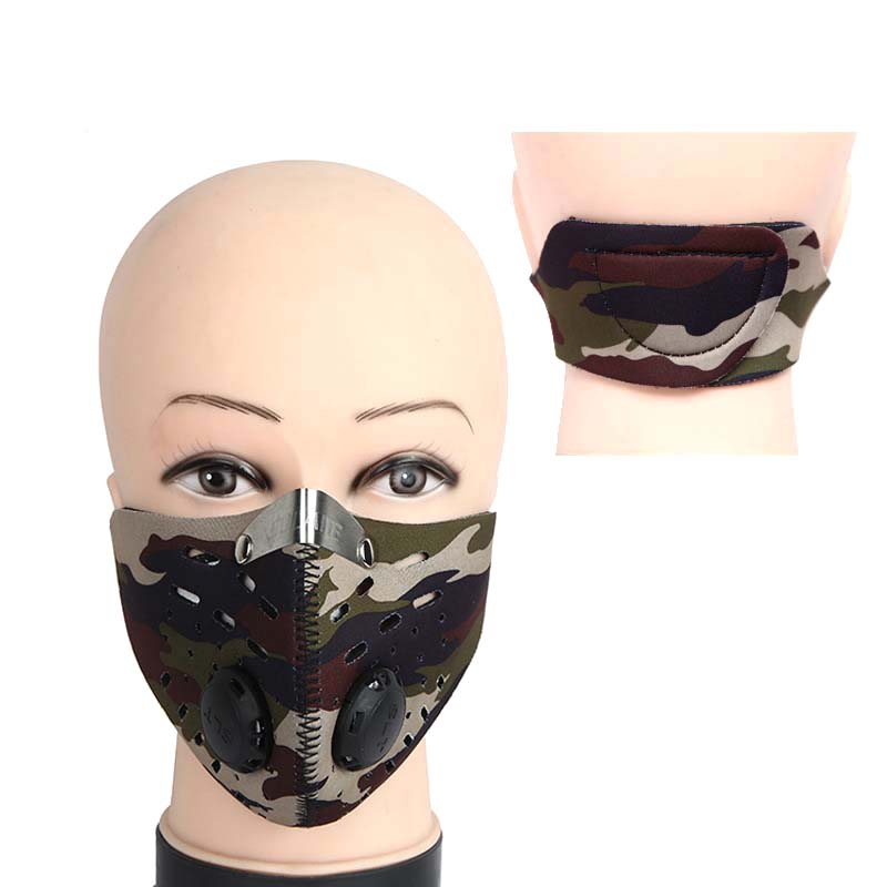 Men Women Anti-dust Cycling Face Mask Breathable Anti-pollution Air Filter Bike Bicycle Riding Hiking Face Masks Outdoor Sports