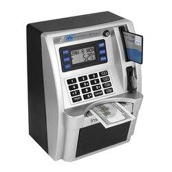 Electronic Piggy Bank ATM Password Money Box Automatic Deposit Banknote Cash Coins Mini Saving Box Safe ATM Bank Children Gift