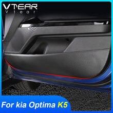 Vtear-Protector de puerta y Pilar B para KIA Optima K5 DL3, pegatina antipatadas, guante de decoración de coche, cubierta de caja, accesorios interiores 2021