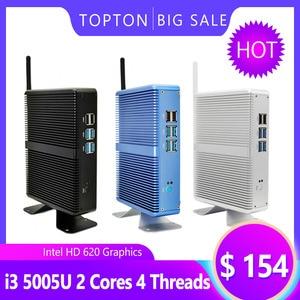Image 5 - Topton Fanless Mini PC Intel i5 7200U i3 7100U Alumimun Alloy Dustyproof Household Mini Computer HDMI, VGA, LAN, 6 USB 300M WiFi