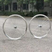 Vintage ostre koło felgi Sliver 25mm przód 24H tył 32H rower jednobiegowy rama rowerowa ze stopu aluminium
