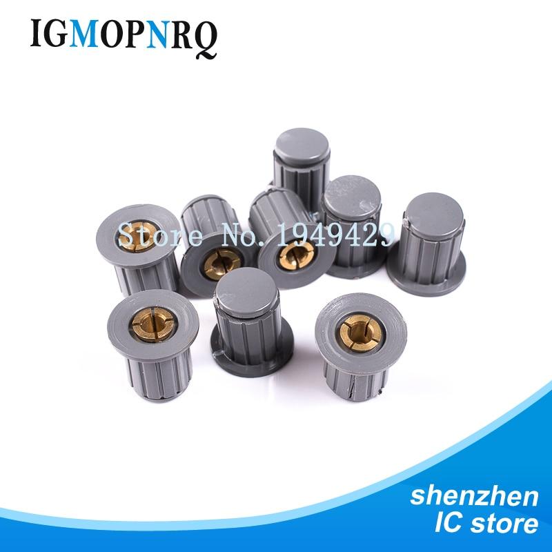 5 pçs cinza botão tampa é adequado para alta qualidade WXD3-13-2W WXD3-12 WH5-1A WX14-12 virar em torno do botão especial do potenciômetro