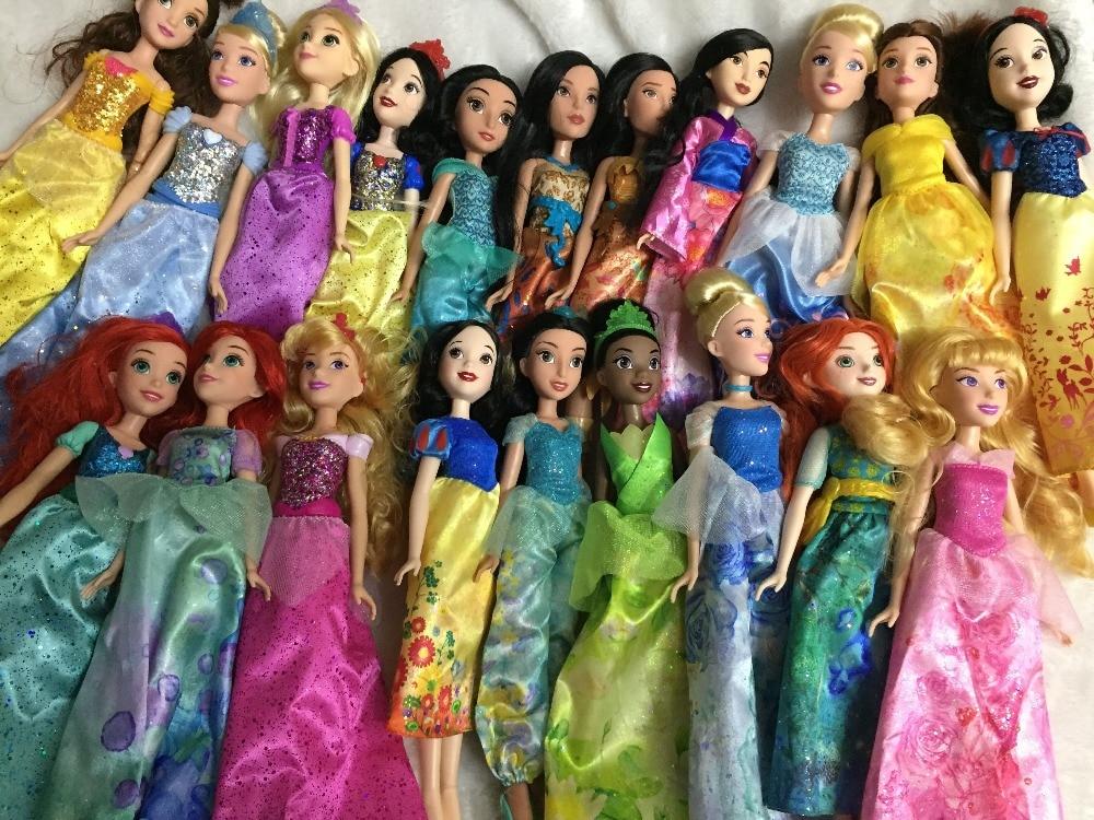 Nuevo Rapunzel princesa Jasmine de la muñeca Blancanieves Ariel Merida Cenicienta Aurora Belle muñecas para niñas juguete pullip muñeca Princesa Cenicienta Elsa Anna sirena Ariel Castillo figura de bloques de construcción chica amigos ladrillos Juguetes