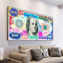 DDWW Pop Culture Money Style Gold Standar Modern Street Art Inspirational Wall Art Canvas Wall Picture for Home Decor