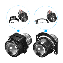 цена на DERI 2.5 inch HID Bi-xenon Fog Lights Projector Lens Bifocal Driving Lamp Retrofit Motorcycle High Low Beam use H11 HID Led Bulb