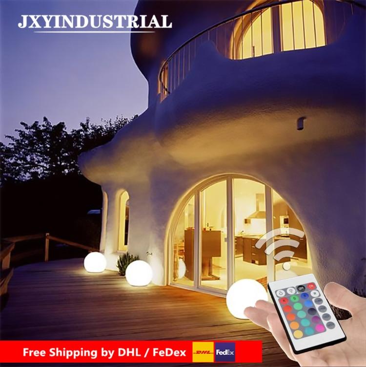 Купить с кэшбэком Dia25cm Rechargeable RGB LED Light Ball 24Key Remote Control 16-Colour Night Glowing LED Sphere By DHL FEDEX