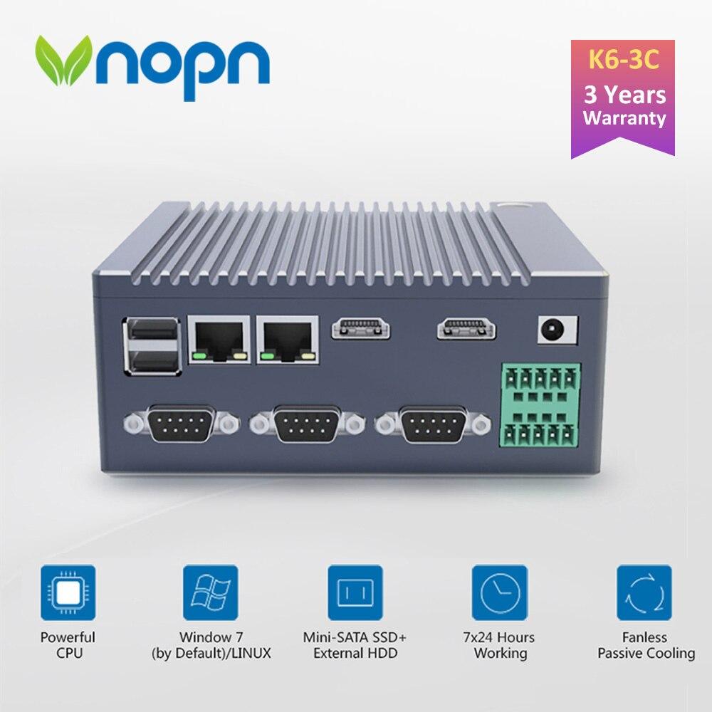 K6-3C Fanless N2940 Quad Core Industrial IoT Computer 1*GPIO 3*RS232 COM 2*RJ45 LAN 2*HDMI 6*USB WIFI 4K Mini PC Windows Linux