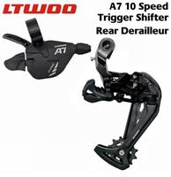 LTWOO A7 1x10 Speed Trigger Shifter + Rear Derailleurs, 10s for MTB Compatible with DEORE