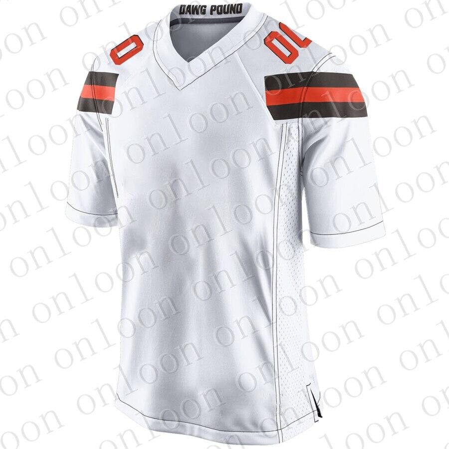 Youth 2020 American Football Cleveland Sport Fans Wear Denzei Ward Myles Garrett Jim Brown Joe Thomas Johnny Manziel Jerseys